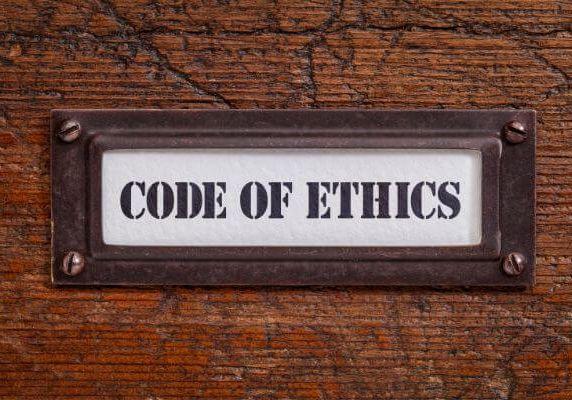code of ethics plaque